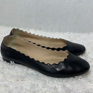 Chloe Lauren scalloped Leather ballet flats 8.5